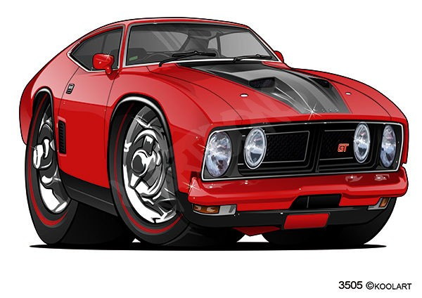 Ford Falcon GT Red