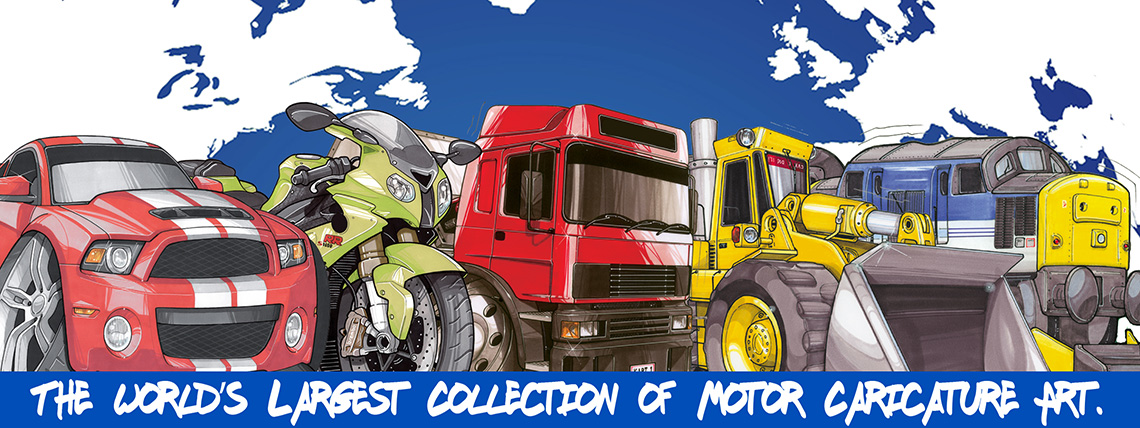 Koolart - The world's largest collection of motor caricature art