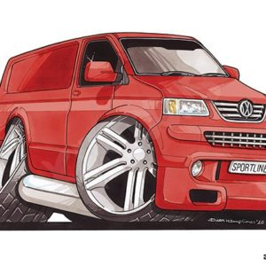 Volkswagen VW Transporter T5 Red