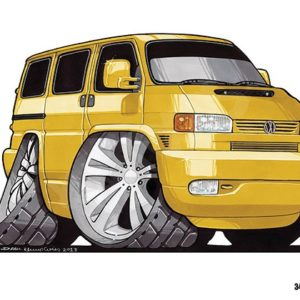 Volkswagen VW Transporter T4 Yellow