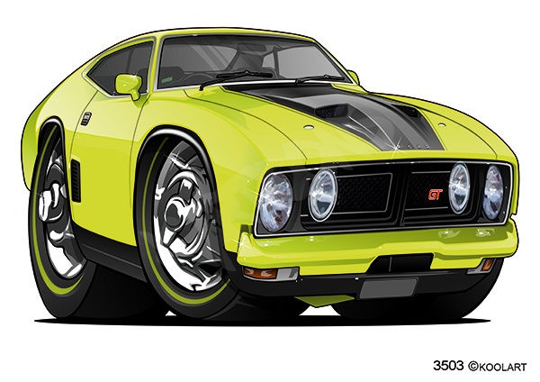 Ford Falcon GT Yellow