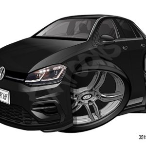Volkswagen VW Golf MKVII Black