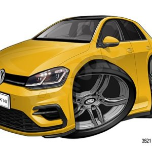 Volkswagen VW Golf MKVII Yellow