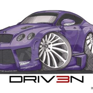 Driven Bentley Continental Purple