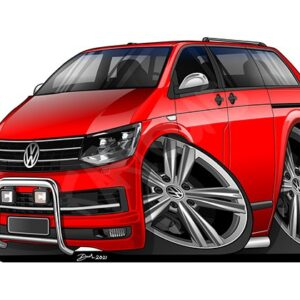 VW T5 Tuning Red