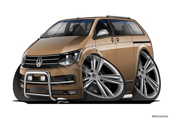 VW T5 Tuning Brown